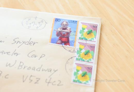 切手の寄付