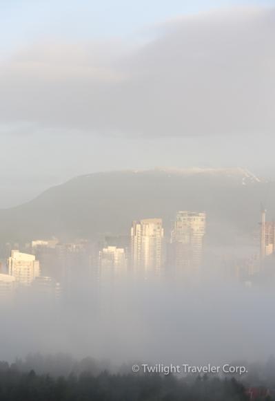 バンクーバー霧 朝もや